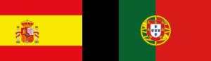 Banderas Espña y Portugal